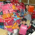 One thousand three hundred school bags for children in stricken areas