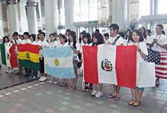 Okinawa Junior Study Tour - children of Okinawan immigrants learn about Okinawa