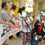 Twenty school children from Fukushima visit Okinawa to enjoy a summer camp