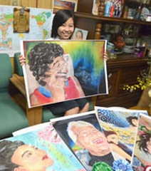 Okinawan student wins top prize in art contest in Florida