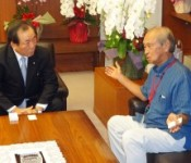 Regarding the Futenma relocation, Okinawa Governor tells the Foreign Minister and Defense Minister that Seeking a place outside the prefecture will be a quicker solution