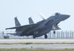 JASDF F-15s moved to Naha Airport from Hyakuri Air Station