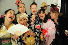 Kimono Girls in the UK collect donations for victims of the Great East Japan Earthquake