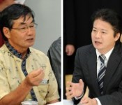 Nago Mayor demands the withdrawal of the Henoko plan to Foreign Minister, who is driving it as the site for the Futenma relocation