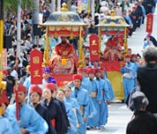 Ryukyu Dynasty Parade held in Kokusai Street as part of the Shurijo Castle Festival