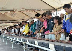 World's Longest Ishigaki Kebab created to mark New Ishigaki Airport