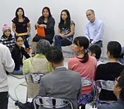 Seventy people gather to discuss the establishment of an Okinawan Language Immersion School