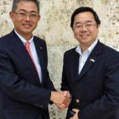 CEO of Baidu Japan Inc. visits Okinawa