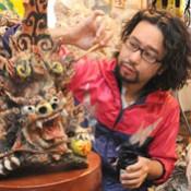 """""""Good luck"""" <em>shisa</em> cheer up Fukushima at an exhibition in Koriyama"""
