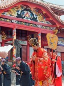 New Year's ceremony held at Shuri Castle