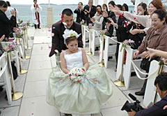 Barrier-free wedding plan proposed by hotel in Ginoza