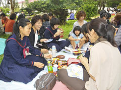 Students pray to pass the entrance examination for high school in Miyako