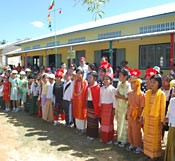 Okinawa and Myanmar Friendship Association gives funds for an elementary school to Myanmar