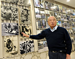 Former Governor Ota opens an exhibition hall on the Battle of Okinawa -