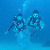Couple from Macao hold underwater marriage ceremony in the sea off Okinawa