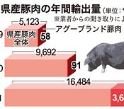 International exports of Okinawan pork grow rapidly, and production of the agu brand increases 63 times 