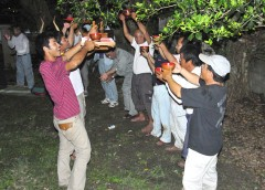 <em>Sutsuupunaka</em> celebration for a full harvest held in Tarama