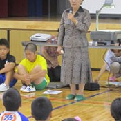 Tsushima-Maru survivor delivers lecture to elementary school pupils