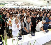 Ceremony to commemorate victims of the Battle of Okinawa