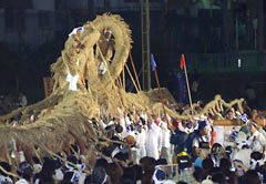 Appealing to tradition, Ginowan holds tug-of-war for the second time since WWII