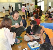 Ibis protection group from China visits Kijoka Elementary School