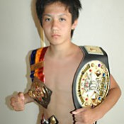 Young kick boxer captures third title