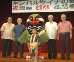 Ada in Kunigami proclaims itself to be providing habitat for the Okinawan rail