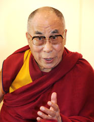 Dalai Lama agrees that the current concentration of bases in Okinawa reflects discrimination