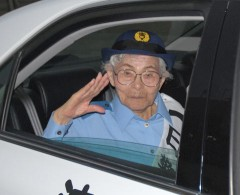 Ninety-five year-old woman becomes police chief for a day in Motobu