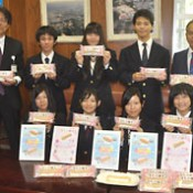 Urasoe Technical High School students develop pie snack with Lawson Okinawa