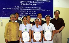 University of the Ryukyus Hospital marks 10 years of support activities in Laos