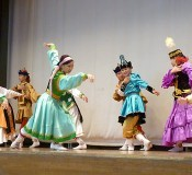 Orphans from Mongolia hold a charity performance in Okinawa