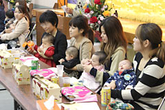 Christian Festival held at Kushi in Nago to bless newborn babies