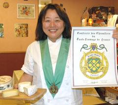 Iizuka becomes Chevalier du Taste-Fromage