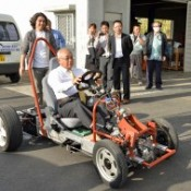 Miyako-jima Municipal Office builds prototype EV car