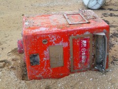 Postbox drifts to Iriomote from tsunami-hit Miyagi town