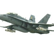 F/A 18 Hornets drop cluster bombs in the sea around Okinawa