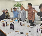 Tonaki Island wine tasting event held in Naha