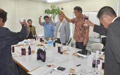 Tonaki Island wine tasting event held in Naha