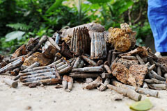 A large quantity of ordnance found in Itoman