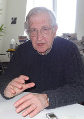 Noam Chomsky criticizes Japan-US policy on relocating the Futenma base within Okinawa