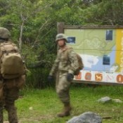U.S. soldiers trespass on walking trail in Nago