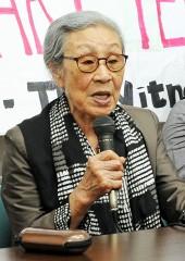 Former comfort woman rebuts Hashimoto's remarks