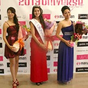 Tanaka wins second prize in the Miss Universe Okinawa pageant