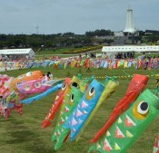 15,000 carp streamers at Peace Memorial Park