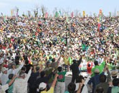 10,000 residents gather in protest rally against the anniversary of the restoration of Japanese sovereignty