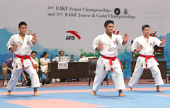 Okinawan karate men win at East Asian Senior Championship