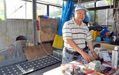 Majikina contributes to Yonaguni Island with solar-energy generator