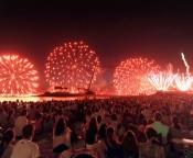10,000 fireworks in Ocean Expo Park Summer Festival