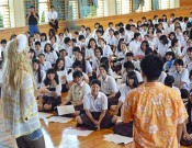 Sexual minorities give lesson at Okinawan high school